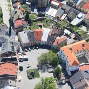 Horní náměstí - letecký snímek